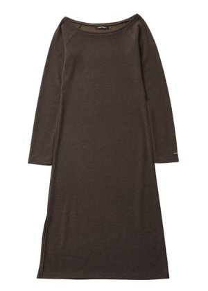 画像1: Royal Pussy   SLIT KNIT DRESS KHAKI